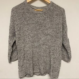 Black and White Knit Style Sweater